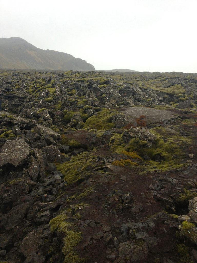 Don't expect waterfalls and geysers on the way into Reykjavik from the airport