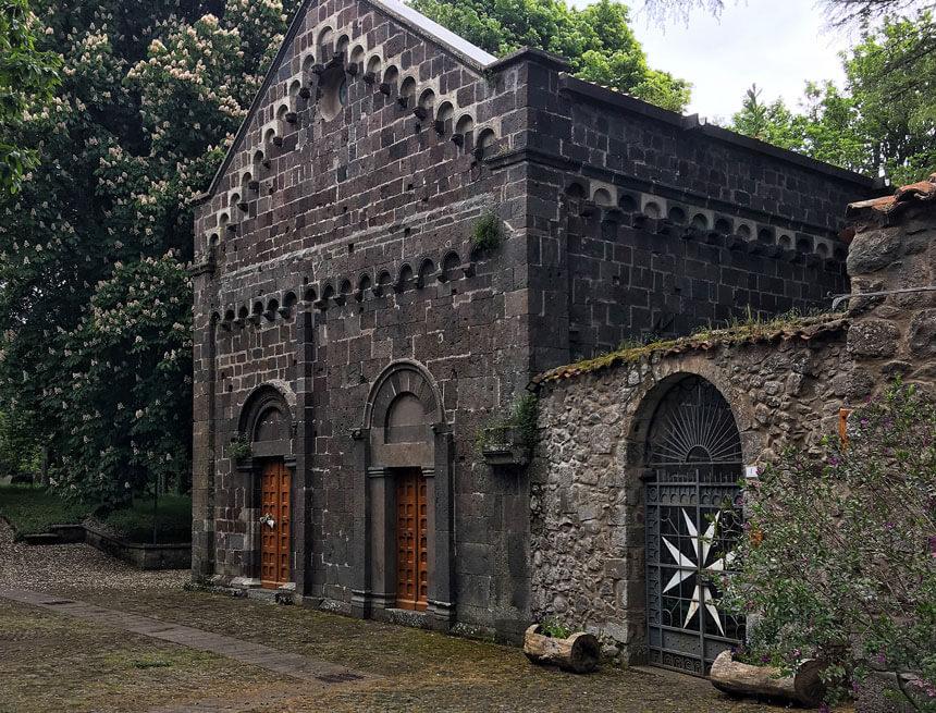 The medieval church at San Leonardo Siete Fuentes