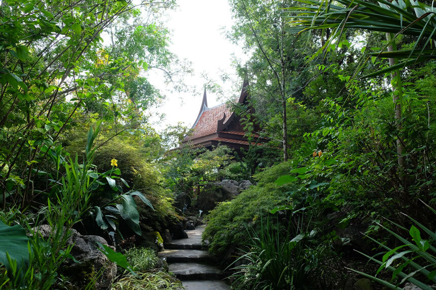 The Thai Pavilion is peaceful and serene