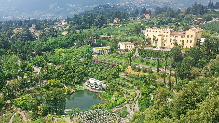 The Trautmansdorff Castle Gardens in Merano