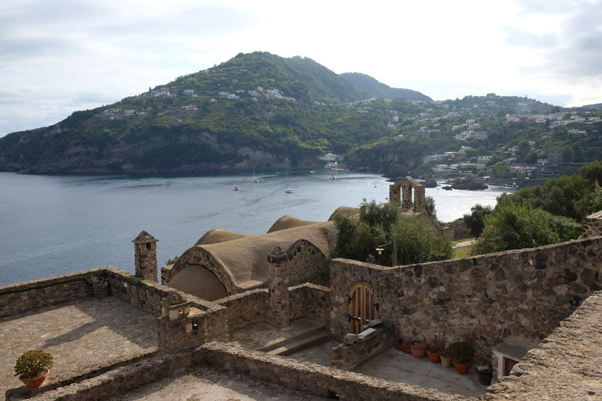 The views from Castello Aragonese are beautiful in every direction
