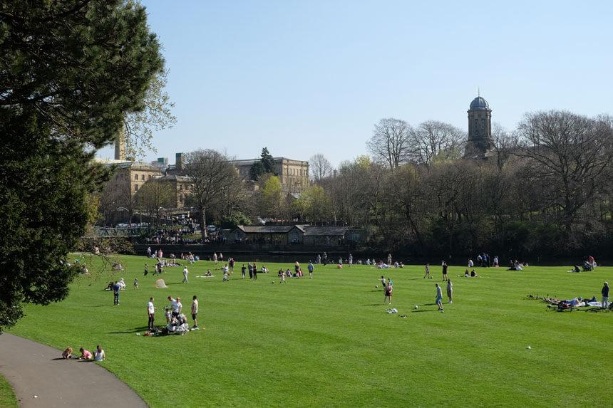 Roberts Park in Saltaire, ideal for healthy outdoor activities