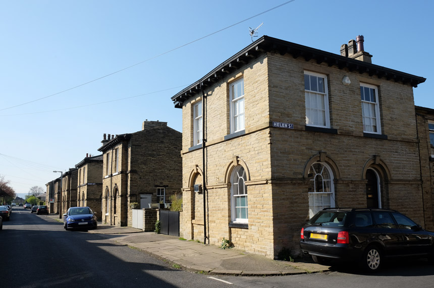 The Saltaire workers' houses are sought-after homes today