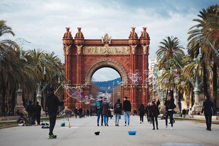 Parc de la Ciutadella in Barcelona is one of the most beautiful gardens in Spain