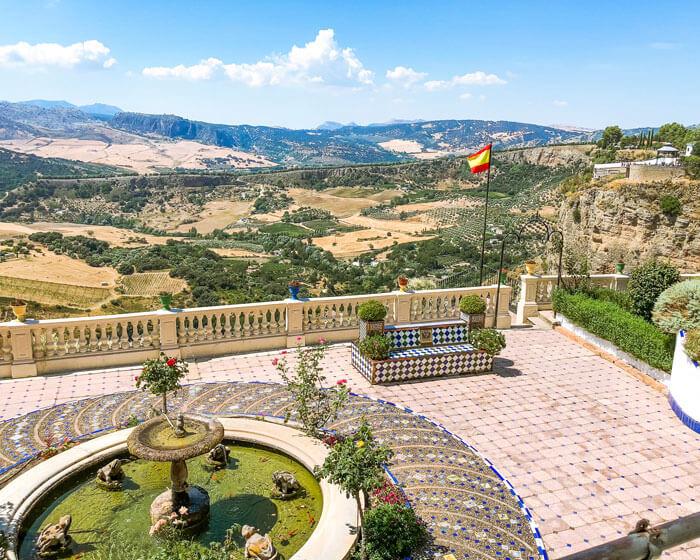 The gardens at Casa Don Bosco, Ronda have amazing views