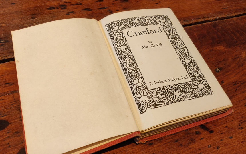 A copy of Elizabeth Gaskell's novel Cranford