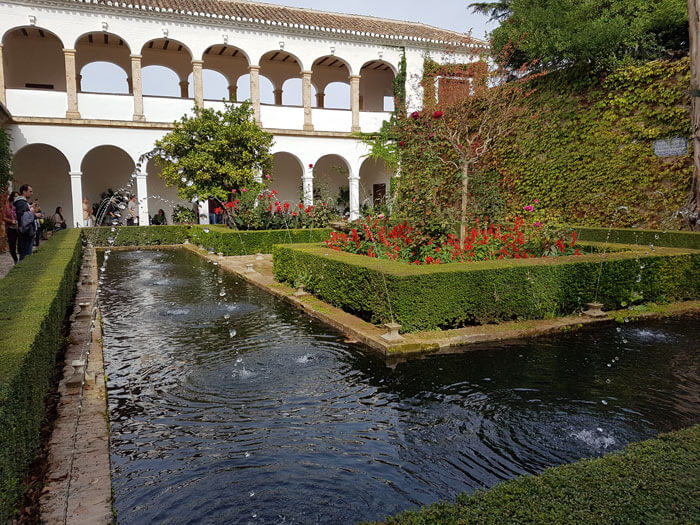 The Generalife gardens in Granada are one of the best gardens in Spain to visit