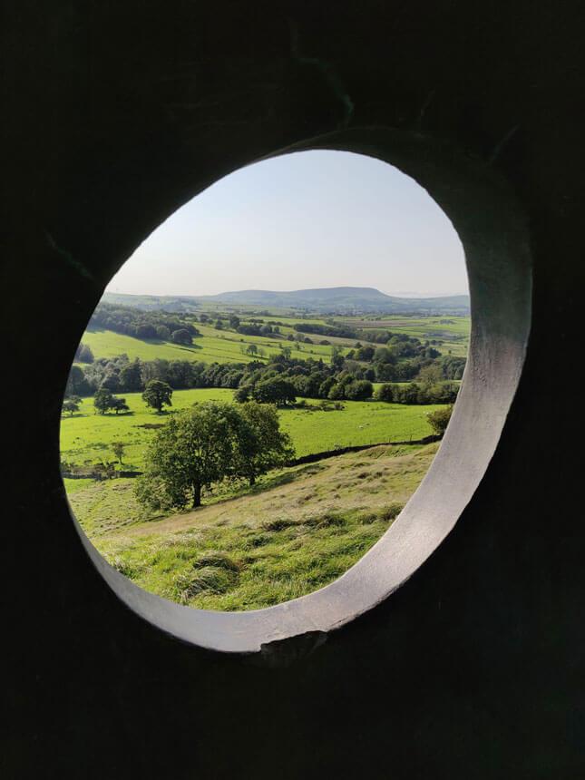 The Atom's circular windows frame the views beautifully