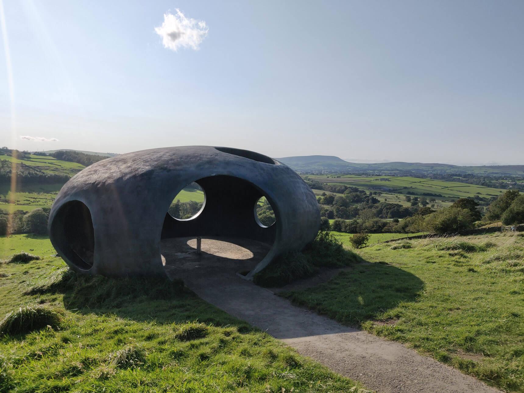 The Atom Panopticon near Colne in East Lancashire