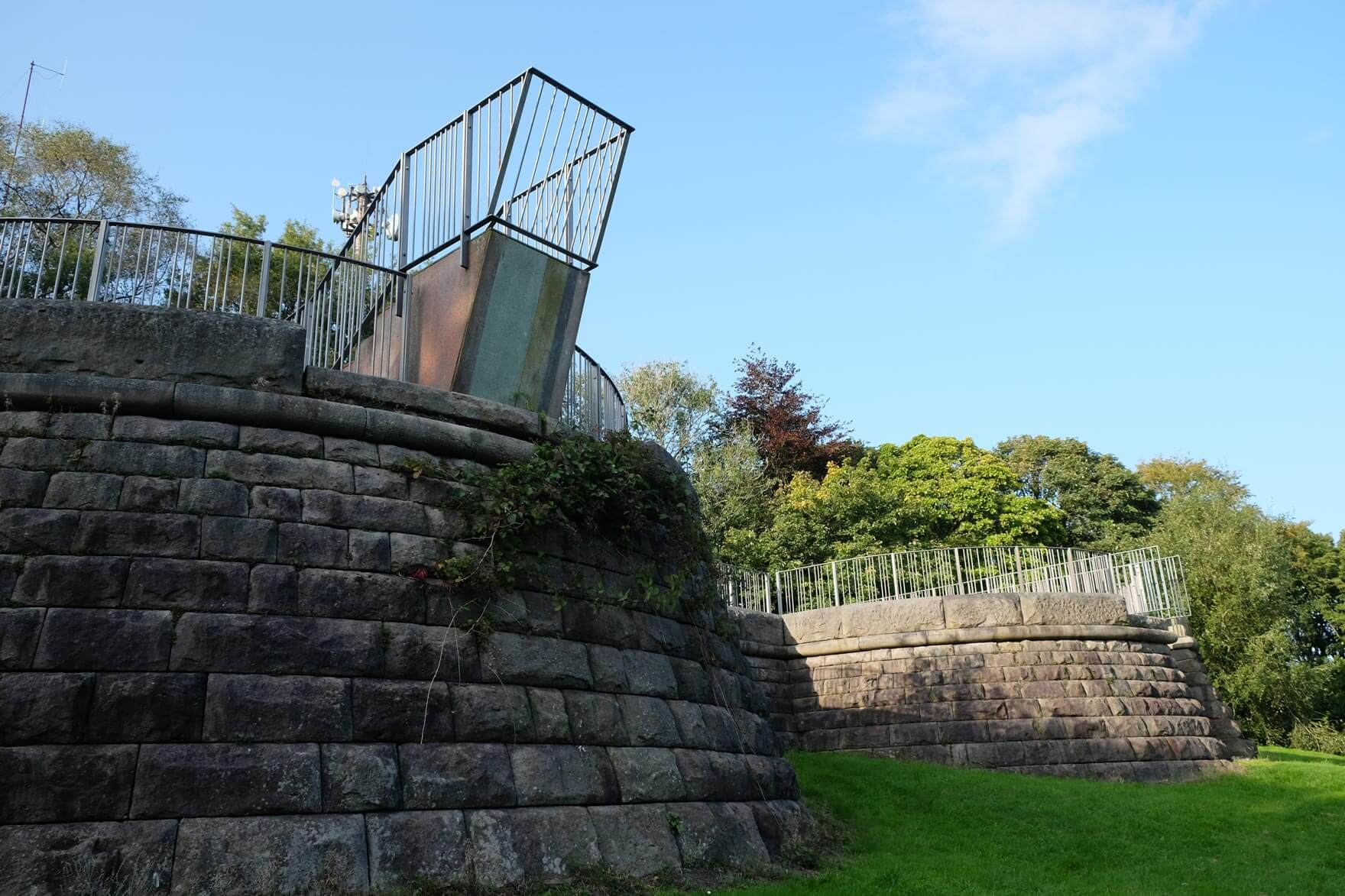 The Colourfields Panopticon in Blackburn's Corporation Park is built on top of the Victorian cannon battery