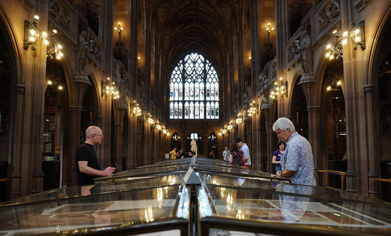 Visiting the John Rylands Library in Manchester